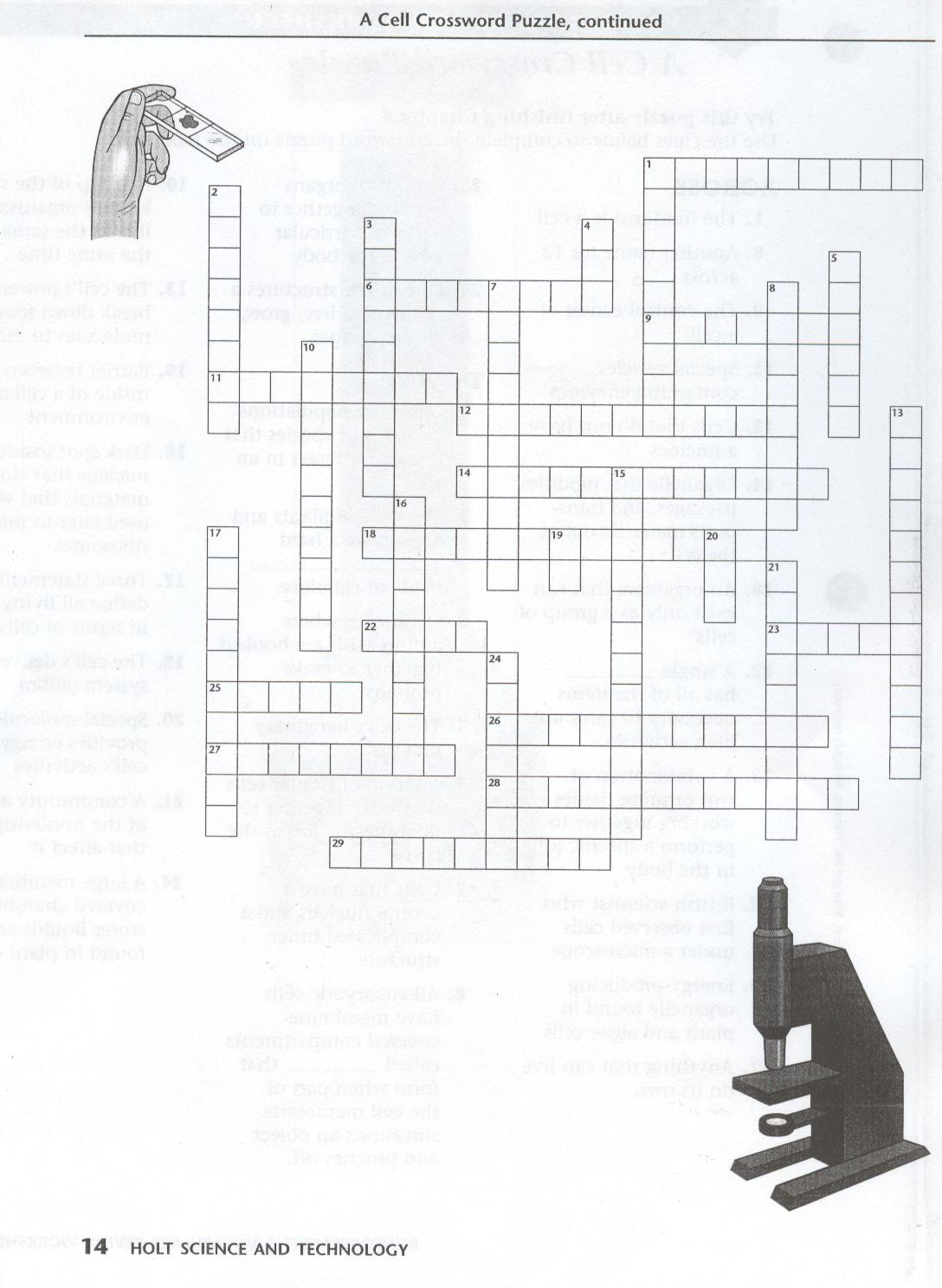 Warm up: A Cell Crossword Puzzle --> Click for worksheets --> A Cell ...